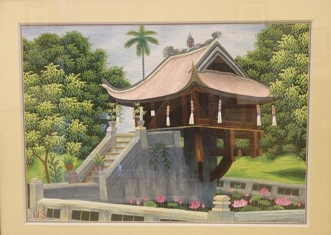ve tranh bang kim theu