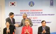 Hàn Quốc hỗ trợ dự án xây dựng lại nhà ở sau bão Damrey