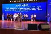 Supe Lâm Thao: Top 30 doanh nghiệp quản trị tốt nhất HNX 2016-2017