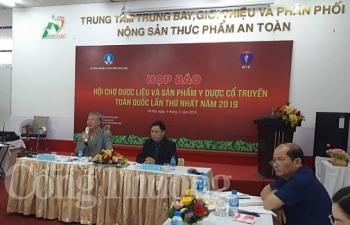sap dien ra hoi cho duoc lieu va san pham y duoc co truyen toan quoc lan thu nhat 2019
