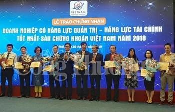 cong bo doanh nghiep dat chi so nang luc quan tri tai chinh tot tren san chung khoan 2018