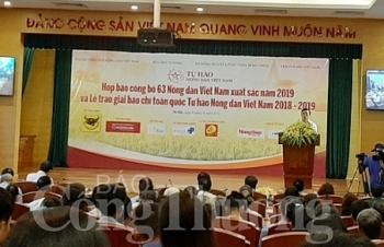 cong bo 63 nong dan viet nam xuat sac 2019