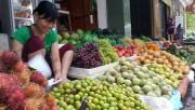 Gắn biển nhận diện thí điểm cửa hàng kinh doanh trái cây