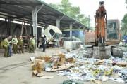 Hà Nội tiêu hủy gần 20 tấn hàng giả, hàng lậu