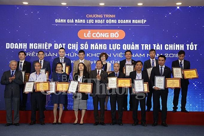 cong bo doanh nghiep dat chi so nang luc quan tri tai chinh tot nhat tren san chung khoan viet nam 2018