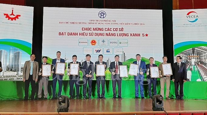 vinh danh 32 co so cong trinh xay dung su dung nang luong xanh nam 2019