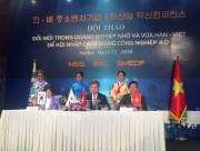 Việt Nam - Hàn Quốc hợp tác phát triển doanh nghiệp nhỏ và vừa