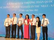 Trao giải thưởng toàn quốc về Thông tin đối ngoại lần thứ nhất