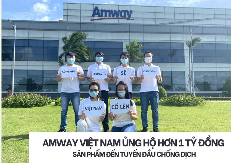 Amway Việt Nam ủng hộ các sản phẩm chăm sóc sức khỏe và thiết yếu đến tuyến đầu chống dịch tại khu vực phía Nam