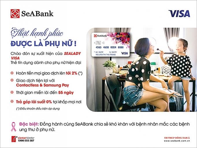 seabank ra mat the sealady cashback visa