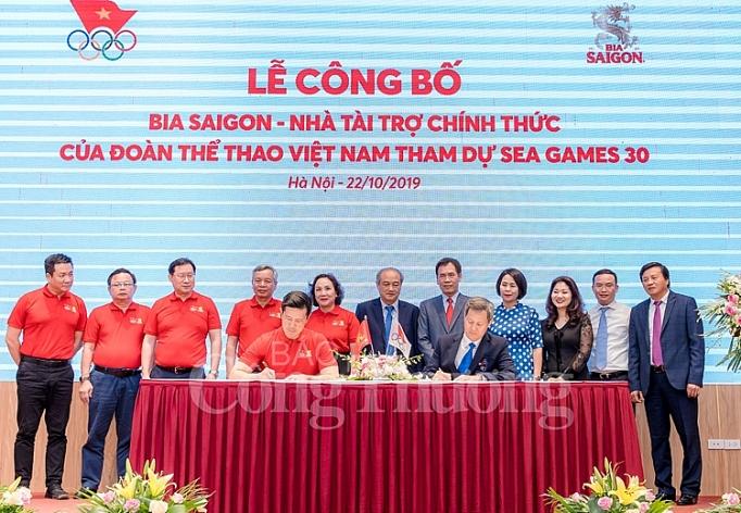 bia saigon la nha tai tro chinh thuc cua doan the thao viet nam tham du sea games 30
