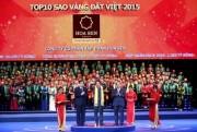 Tập đoàn Hoa Sen được vinh danh trong Top 10 Sao Vàng Đất Việt 2015