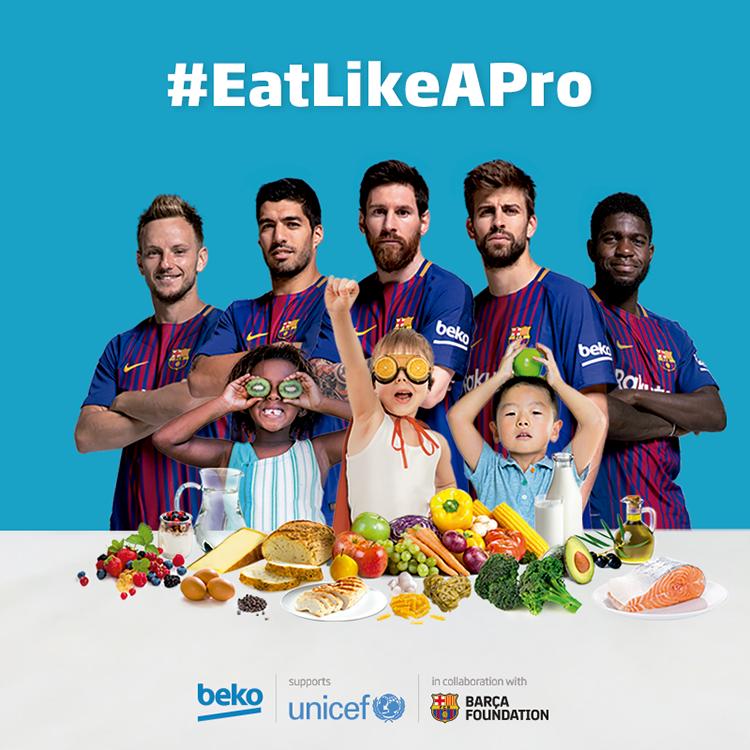 Ăn uống chuẩn chuyên gia, gây quỹ ủng hộ Tổ chức UNICEF