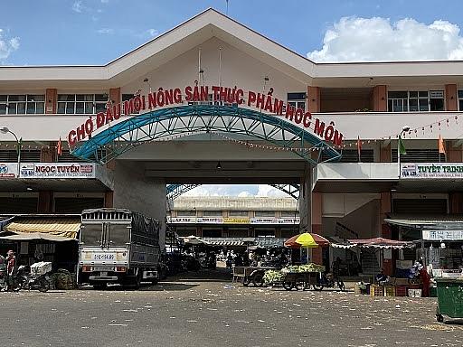 TP Hồ Chí Minh: Mở lại điểm tập kết, trung chuyển hàng hóa tại chợ đầu mối Hóc Môn