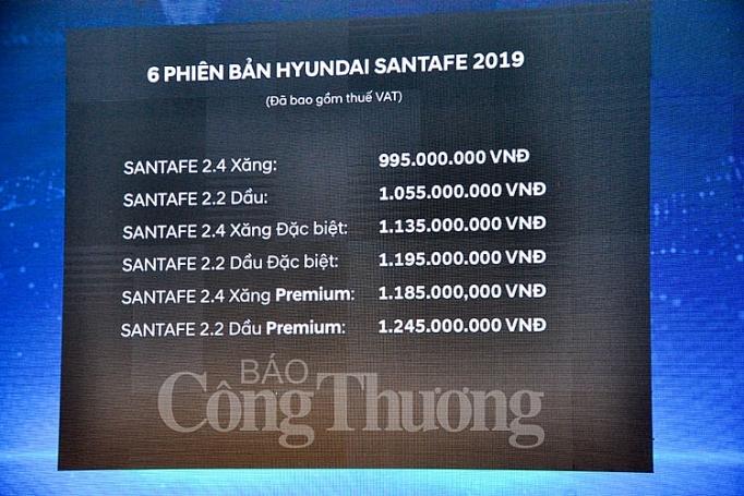 hyundai santafe 2019 chinh thuc ra mat tai viet nam