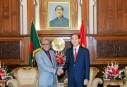 Chủ tịch nước Trần Đại Quang hội kiến Tổng thống Bangladesh