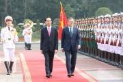 Chủ tịch nước Trần Đại Quang hội đàm với Tổng thống Hàn Quốc Moon Jae In