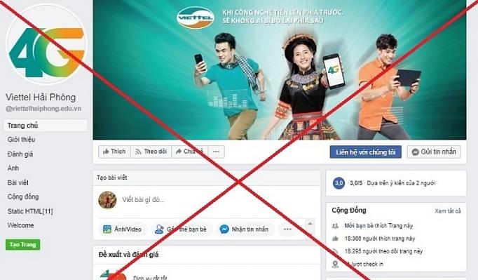 viettel go bo 186 trang mao danh tren facebook