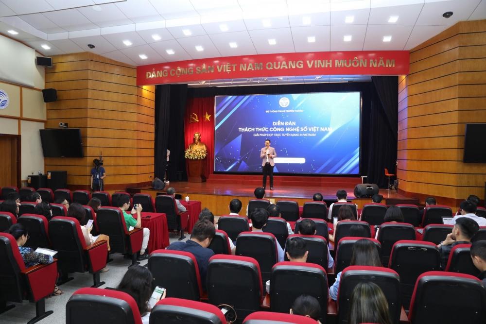 Sự kiện giới thiệu nền tảng họp trực tuyến eMeeting (Ảnh: Minh Quyết)