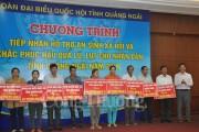 Các đơn vị Bộ Công Thương dành hơn 8 tỷ đồng hỗ trợ tỉnh Quảng Ngãi