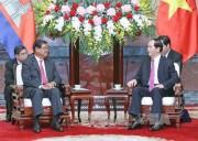 Chủ tịch nước tiếp Phó Thủ tướng, Bộ trưởng Nội vụ Campuchia