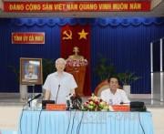 Tổng Bí thư thăm, làm việc tại tỉnh Cà Mau