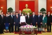 Tổng Bí thư tiếp Chủ tịch Quốc hội Lào