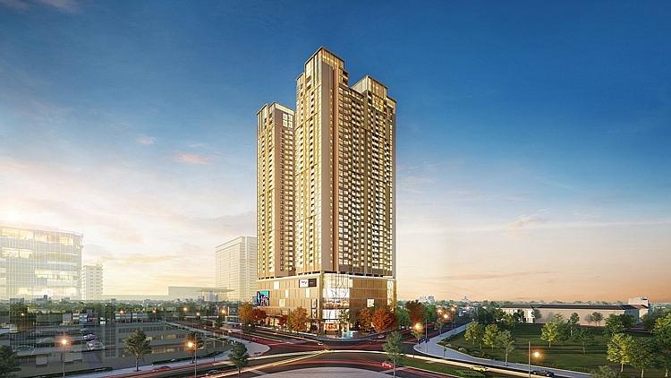 BRG Diamond Residence số 25 Lê Văn Lương tọa lạc tại ngã tư giao với Hoàng Đạo Thúy