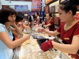Giá vàng SJC và vàng Rồng Thăng Long đồng loạt giảm nhẹ