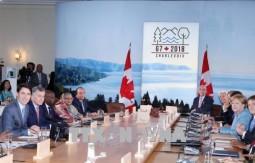 Thủ tướng tiếp xúc song phương các nhà lãnh đạo dự Hội nghị G7 mở rộng