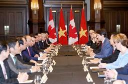 Thủ tướng Nguyễn Xuân Phúc hội đàm với Thủ tướng Canada
