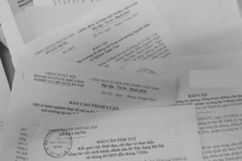 Đề xuất quy định về chế độ báo cáo của cơ quan hành chính nhà nước