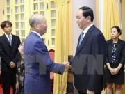 Chủ tịch nước Trần Đại Quang tiếp Phó Chủ tịch FEC Yoshihiko Nakagaki