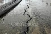 Hải Phòng: Khắc phục vết nứt trên đường dẫn cầu vượt ngã 3 Nguyễn Bỉnh Khiêm - Đình Vũ