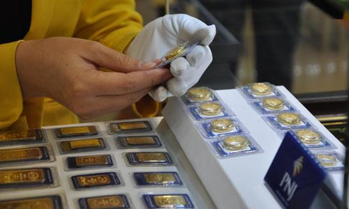 Vàng miếng đang được giao dịch quanh mốc khaorng 36.600 đồng.