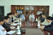 Đoàn công tác Bộ Công Thương thăm và chào xã giao Bộ Công Thương Lào