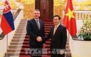 Phó Thủ tướng Vương Đình Huệ hội đàm với Phó Thủ tướng Slovakia
