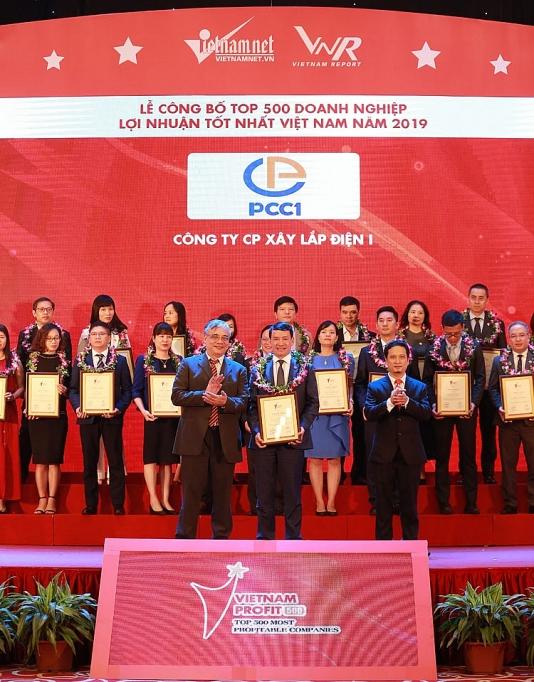 pcc1 don nhan danh hieu top 500 doanh nghiep loi nhuan tot nhat viet nam nam 2019