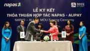 Napas ký kết thỏa thuận hợp tác với Alipay