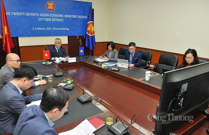 Hội nghị Bộ trưởng Kinh tế ASEAN hẹp lần thứ 27: Thông qua 10 sáng kiến, ưu tiên hợp tác kinh tế