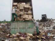 Hà Nội tịch thu, tiêu hủy hơn 7 tấn mỹ phẩm đã quá hạn sử dụng