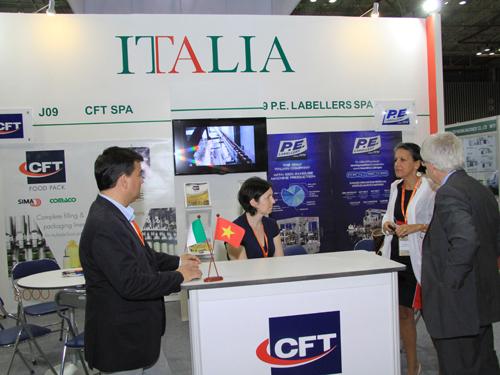 Các DN Ý tham gia triển lãm và giới thiệu nhiều công nghệ mới.