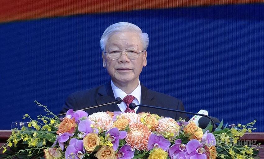 Tổng Bí thư, Chủ tịch nước Nguyễn Phú Trọng phát biểu tại lễ kỷ niệm