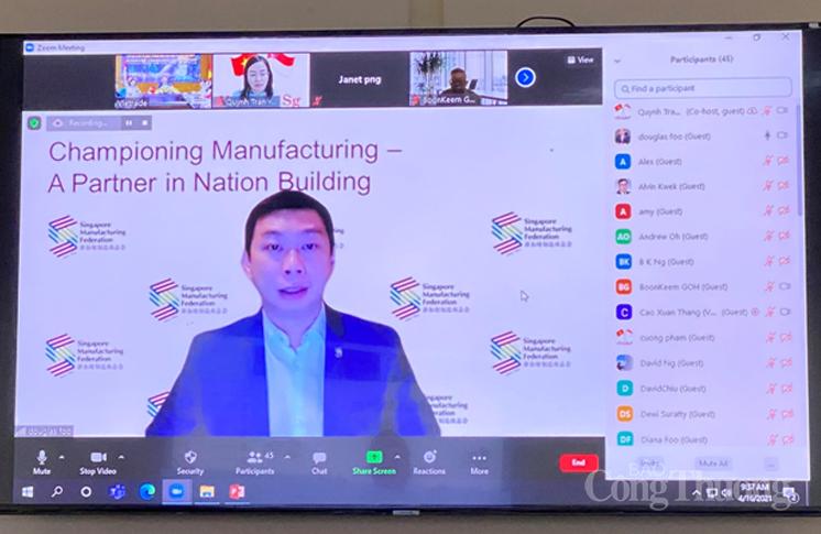 Doanh nghiệp Singapore quan tâm đến đầu tư công nghiệp tại Việt Nam