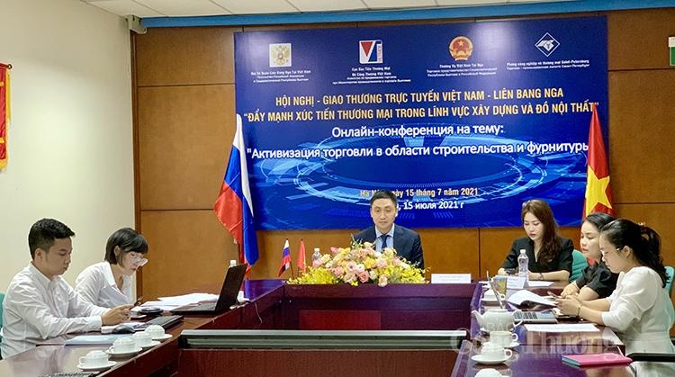 Hội nghị, Giao thương trực tuyến Việt Nam – Liên bang Nga: Đẩy mạnh xúc tiến thương mại trong lĩnh vực xây dựng và đồ nội thất
