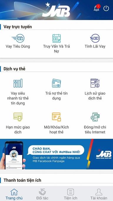 vay thau chi khong can tai san bao dam voi app ngan hang mbbank