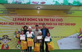 phat dong ngay hoi trang nguyen nho tuoi va viet chu dep net chu net nguoi tinh yen bai nam hoc 2018 2019