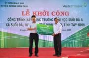 Vietcombank tài trợ 4 tỷ đồng xây trường tại Tây Ninh