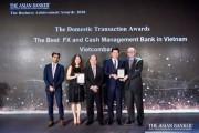 Vietcombank nhận hai giải thưởng dịch vụ tốt nhất từ The Asian Banker