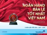 """VietinBank là """"Ngân hàng bán lẻ tốt nhất Việt Nam"""" 3 năm liên tiếp"""